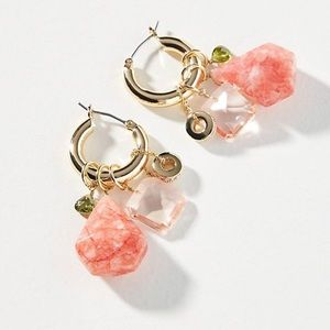 NWT Anthropologie Noemie Huggie Hoop Earrings